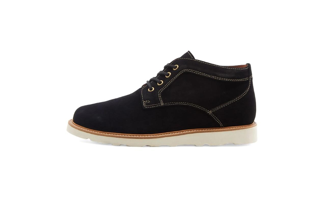 """$225, End Clothing. <a href=""""https://www.endclothing.com/us/wild-bunch-vibram-sole-classic-boot-mst6-vs-bks.html"""">Get it now!</a>"""