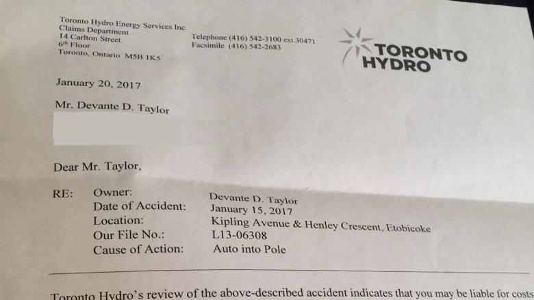 Toronto Hydro apologizes for bill sent to shooting victim who was fighting for his life