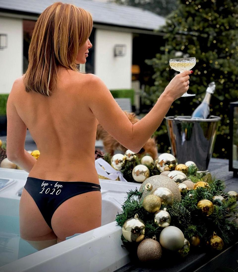 Amanda Holden in the hot tub
