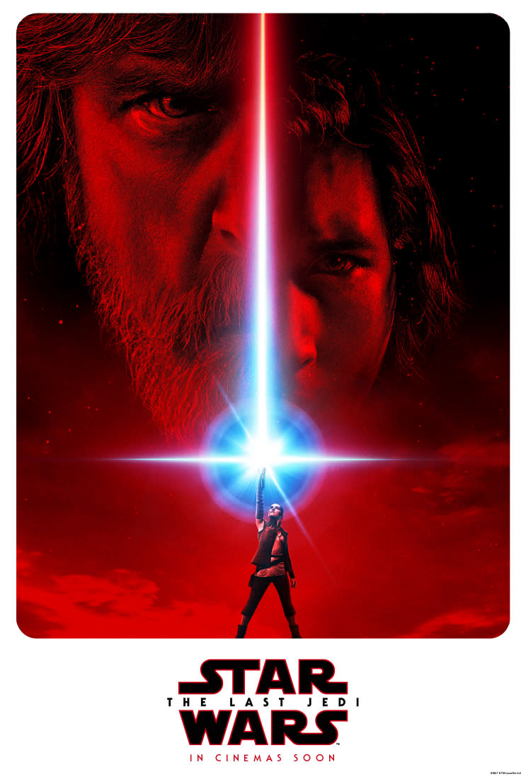 <p>The new 'Star Wars: The Last Jedi' poster, released at Star Wars Celebration 2017, suggests an imbalance in the Force (Lucasfilm/Disney) </p>