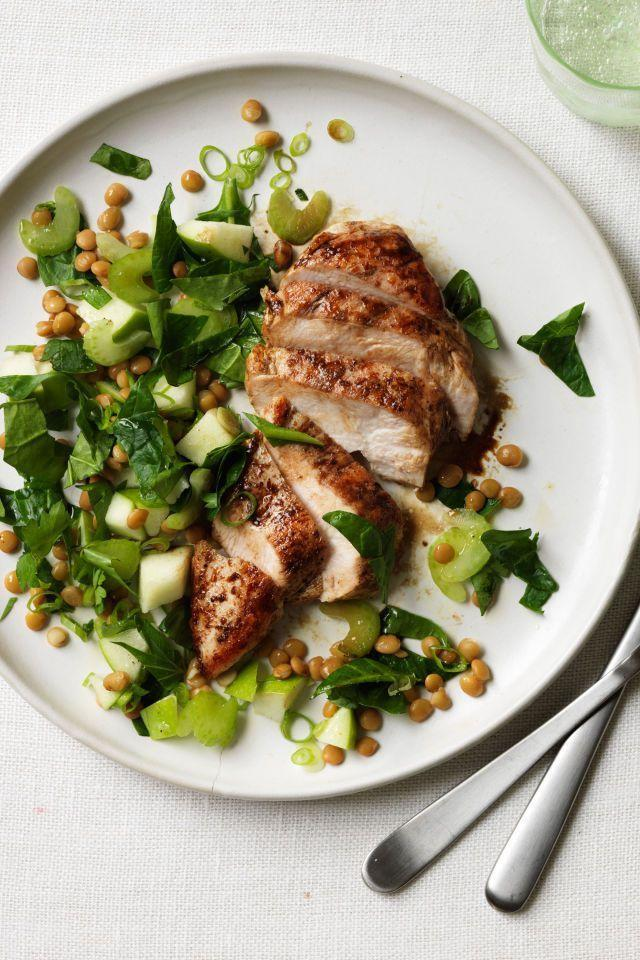 """<p>Upgrade grilled chicken with a splash of balsamic vinegar and serve it over a bed of lentils, spinach, and green apples for a <a href=""""https://www.womansday.com/food-recipes/food-drinks/g2176/hearty-healthy-recipes/"""" rel=""""nofollow noopener"""" target=""""_blank"""" data-ylk=""""slk:healthy, yet delicious dinner"""" class=""""link rapid-noclick-resp"""">healthy, yet delicious dinner</a>.</p><p><em><a href=""""https://www.womansday.com/food-recipes/food-drinks/recipes/a11833/balsamic-chicken-with-apple-lentil-and-spinach-salad-recipe/"""" rel=""""nofollow noopener"""" target=""""_blank"""" data-ylk=""""slk:Get the Balsamic Chicken with Apple, Lentil and Spinach Salad recipe."""" class=""""link rapid-noclick-resp"""">Get the Balsamic Chicken with Apple, Lentil and Spinach Salad recipe.</a></em></p><p><strong>RELATED: </strong><a href=""""https://www.womansday.com/food-recipes/g27767001/chicken-breast-recipes/"""" rel=""""nofollow noopener"""" target=""""_blank"""" data-ylk=""""slk:30+ Chicken Breast Recipes That Are Anything But Boring"""" class=""""link rapid-noclick-resp"""">30+ Chicken Breast Recipes That Are Anything But Boring</a></p>"""