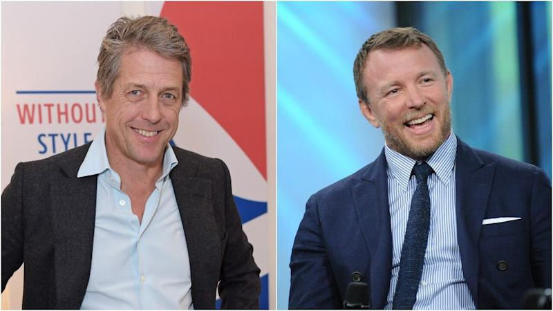 Hugh Grant and Guy Ritchie Recreate Photo of Their Dads Serving in the Military Together