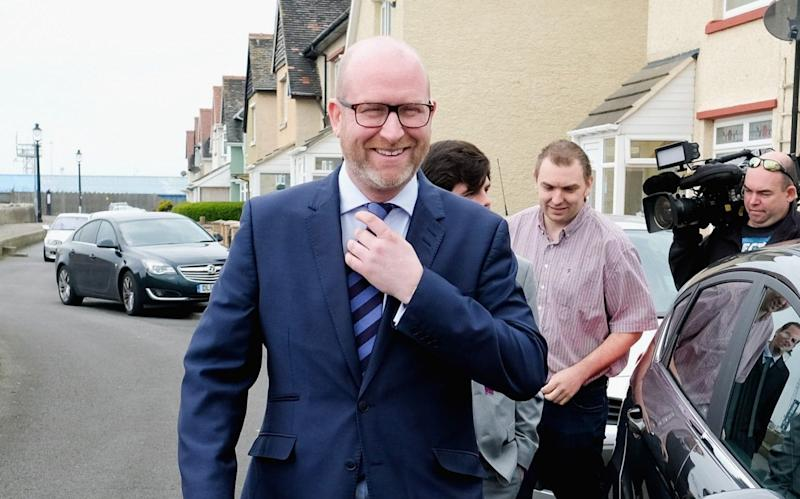 Ukip Leader Paul Nuttall holds a campaign meeting in Hartlepool. - Getty Images Europe