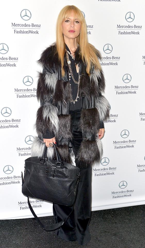 NEW YORK, NY - FEBRUARY 13:  Rachel Zoe  is seen around Lincoln Center - Day 7 - Fall 2013 Mercedes-Benz Fashion Week at Lincoln Center for the Performing Arts on February 13, 2013 in New York City.  (Photo by Gustavo Caballero/Getty Images)