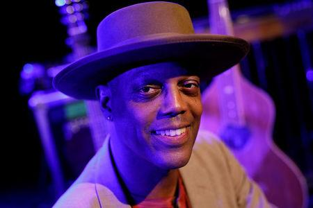 Eric Bibb from the U.S. performs at the Flux theater in Zaandam
