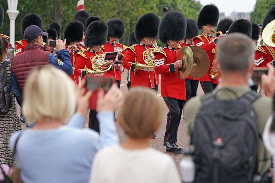 The Band of The Coldstream Guards marching during the Changing the Guard ceremony (Kirsty O'Connor/PA) (PA Wire)