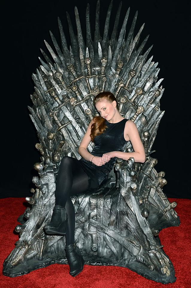 "Sophie Turner attends The Academy of Television Arts & Sciences'  presentation of An Evening With ""Game of Thrones"" at TCL Chinese Theatre on March 19, 2013 in Hollywood, California."