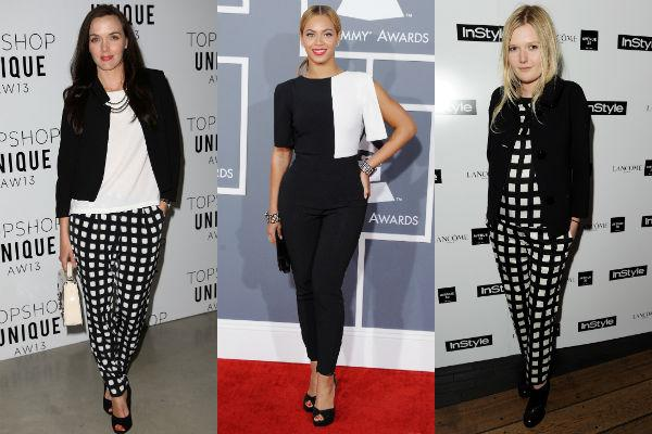 <p><strong>Monochromes:</strong> Black and white are the toast of this fashion season.  From single to two-toned monochromes, these have been spotted on various celebs from Beyonce to Olivia Wilde.</p>