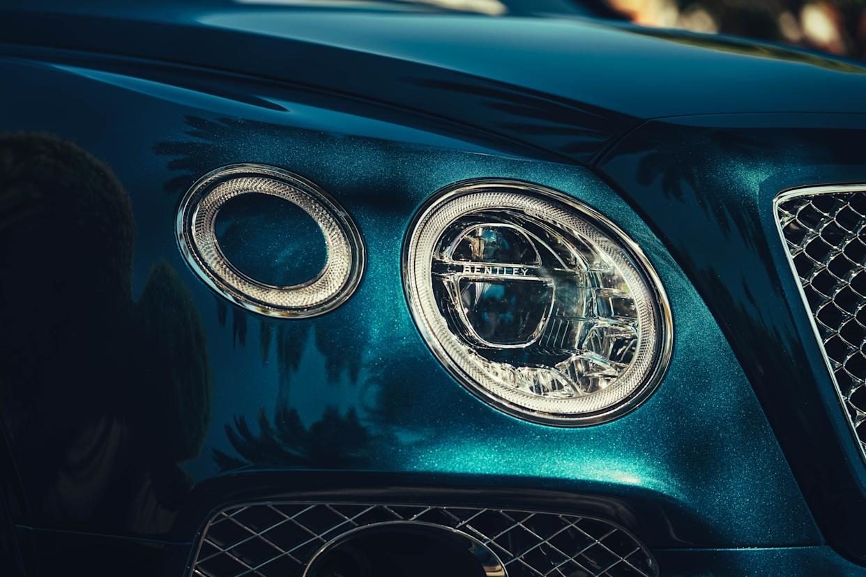 Oval lights give the Bentayga a unique face