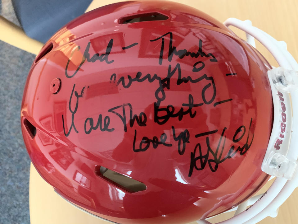 Andy Reid is notorious for keeping in touch with former players, including Chad Lewis. (Photo courtesy of Chad Lewis)