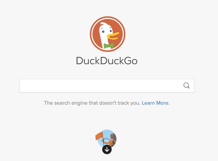 Duck Duck Go search engine