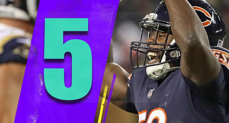 <p>Maybe the result would be different if the teams meet in Los Angeles in January, but the Bears domination of the Rams offense was so thorough, you have to wonder if Chicago just matches up with the Rams really well. There's no way Los Angeles wants to see the Bears defense again in the playoffs. (Roquan Smith) </p>
