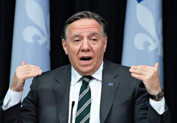 Quebec Premier François Legault said the COVID-19 situation is critical and deteriorating in Quebec City, Lévis and Gatineau and announced a new 10-day lockdown for those three cities starting Thursday at 8 p.m. ET.  (Jacques Boissinot/The Canadian Press - image credit)