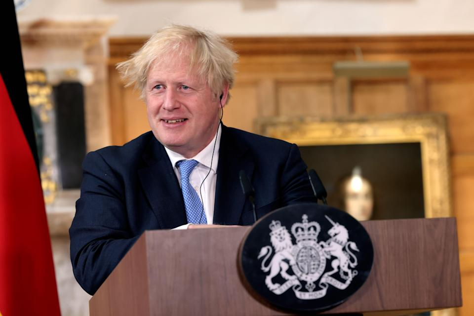 Prime Minister Boris Johnson says the country must now learn to live with Covid-19 after announcing his intention to ease restrictions on July 19 (PA Wire)