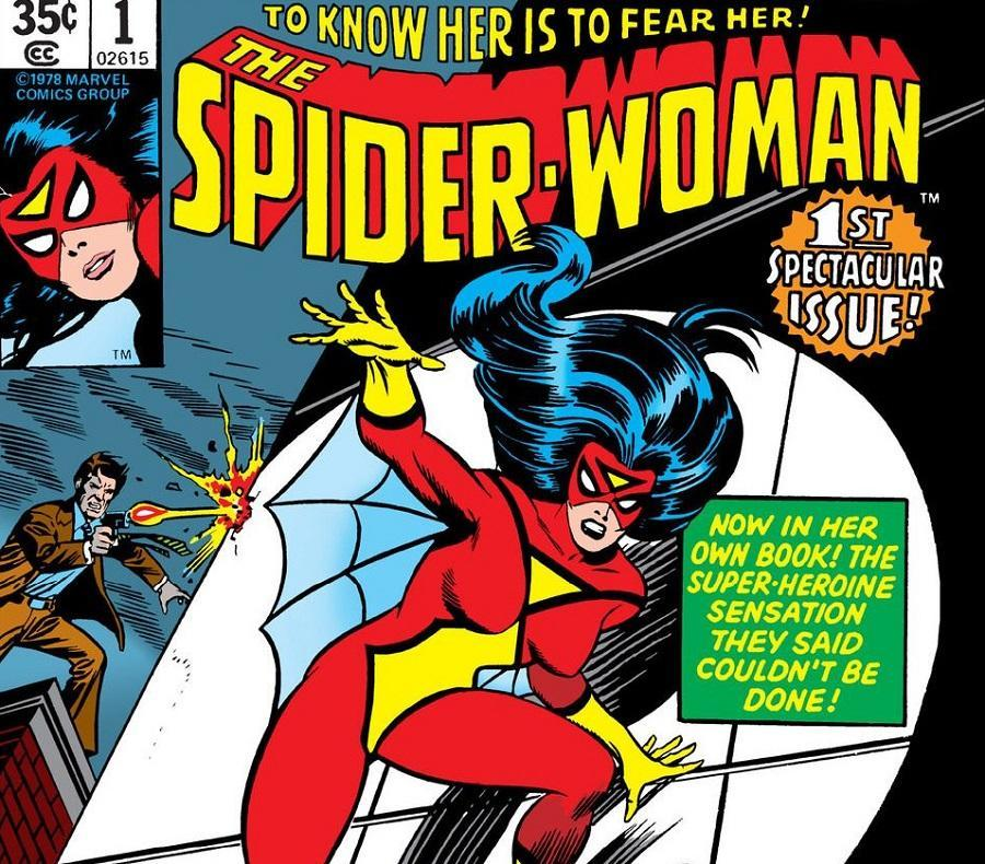 The first issue cover for 1978's Spider-Woman #1.