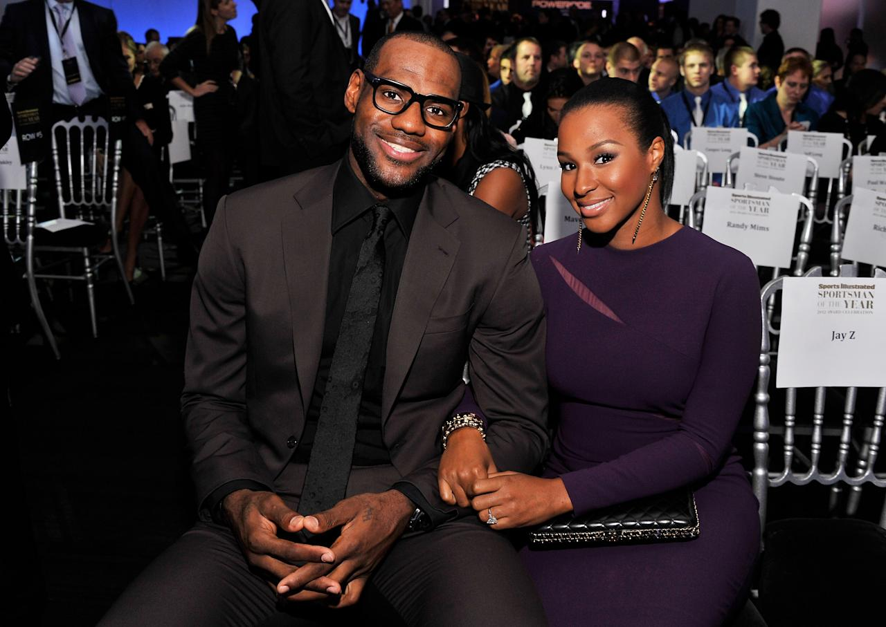 NEW YORK, NY - DECEMBER 05:  2012 Sportsman of the Year LeBron James and Savannah Brinson attend the 2012 Sports Illustrated Sportsman of the Year award presentation at Espace on December 5, 2012 in New York City.  (Photo by Stephen Lovekin/Getty Images)
