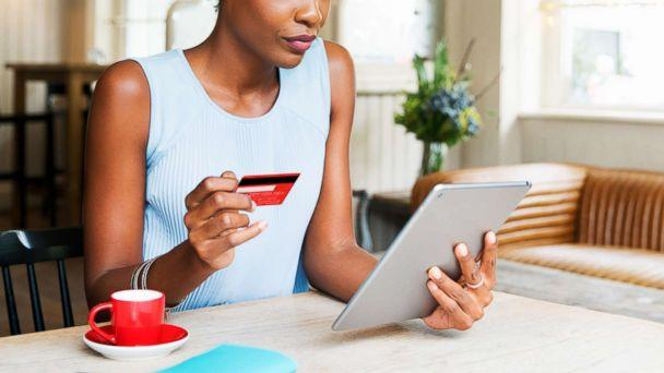 PHOTO: A woman is pictured doing online shopping with her tablet in this undated stock photo. (STOCK PHOTO/Getty Images)