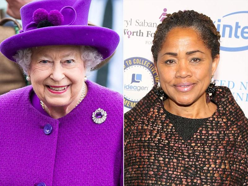 Queen Elizabeth and Doria Ragland