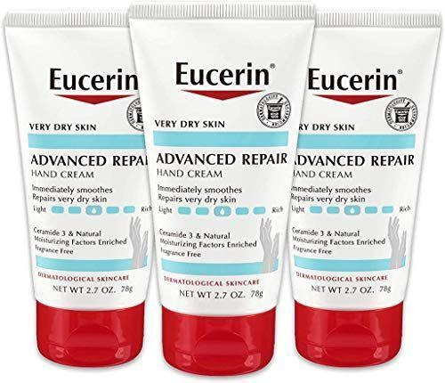 """<p><strong>Eucerin</strong></p><p>amazon.com</p><p><strong>$13.38</strong></p><p><a href=""""https://www.amazon.com/dp/B076FYJXGN?tag=syn-yahoo-20&ascsubtag=%5Bartid%7C10055.g.35730835%5Bsrc%7Cyahoo-us"""" rel=""""nofollow noopener"""" target=""""_blank"""" data-ylk=""""slk:Shop Now"""" class=""""link rapid-noclick-resp"""">Shop Now</a></p><p>While Eucerin is always popular among readers, this <a href=""""https://www.goodhousekeeping.com/beauty-products/best-lotions/a25136153/best-hand-cream/"""" rel=""""nofollow noopener"""" target=""""_blank"""" data-ylk=""""slk:hand cream"""" class=""""link rapid-noclick-resp"""">hand cream</a> set surfaced as a top pick this month. Blame the cold, dry air, but this fairly inexpensive cream was found in Lab tests to<strong> increase skin moisturization by an impressive 51%</strong>. </p>"""