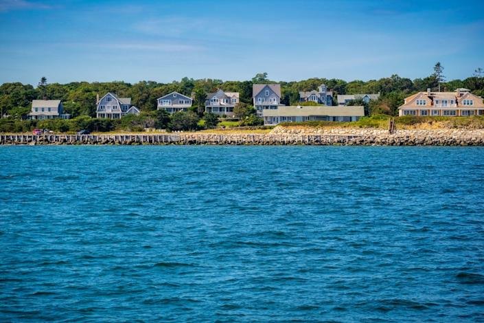 Epic shot of The Vineyard Island from our boat in Martha's Vineyard