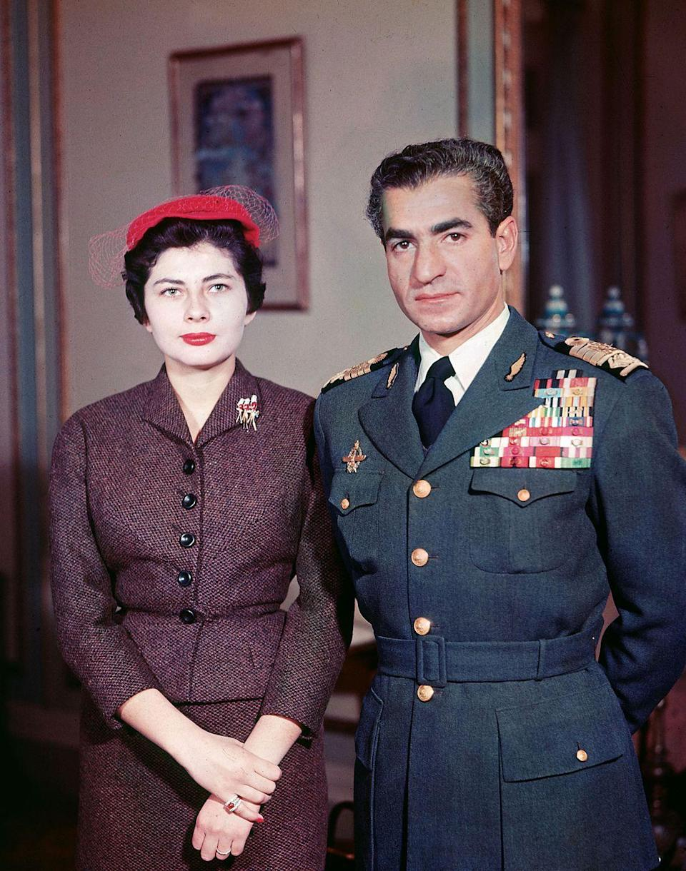 """<p>She became an Iranian queen when she married Shah Mohammad Reza Pahlavi in 1951. The daughter of a German mother and a father who was a member of Iran's powerful Bakhtiari family, Queen Soraya was the Shah's second wife and later became an actress. She went on to star in two films, <span class=""""redactor-unlink""""><em>I Tre Volti</em></span> and <span class=""""redactor-unlink""""><em>She</em></span>, after the couple's divorce in 1958. </p>"""