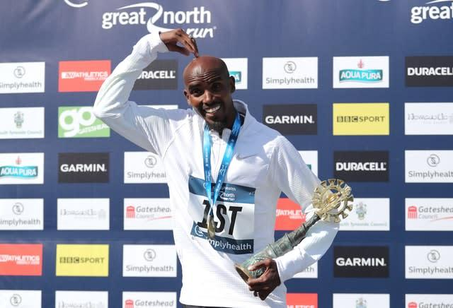 Sir Mo Farah stormed to victory in the 2018 Great North Run (Richard Sellers/PA)