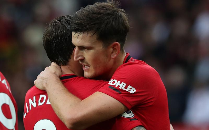 Lindelof clearly enjoyed having £80m signing Maguire alongside him last weekend against Chelsea - Manchester United