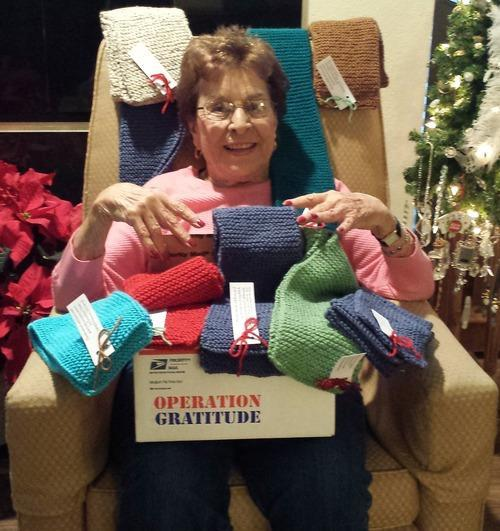 Old Grandma Knitting : Year old grandma knits hundreds of holiday scarves for