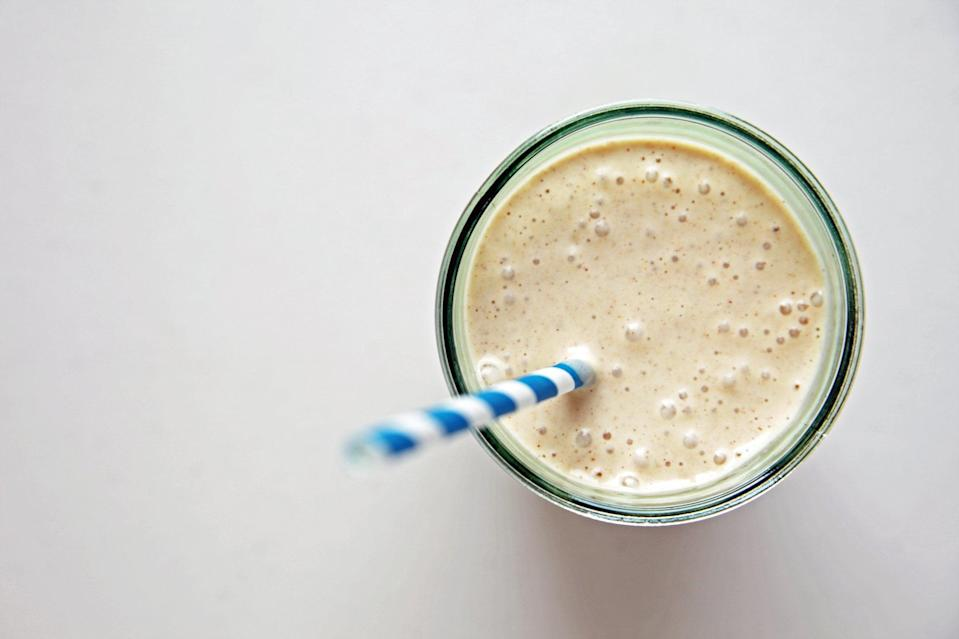 "<p><strong>Get the recipe:</strong> <a href=""https://www.popsugar.com/fitness/Pumpkin-Spice-Smoothie-11528628"" class=""link rapid-noclick-resp"" rel=""nofollow noopener"" target=""_blank"" data-ylk=""slk:protein-packed pumpkin spice smoothie"">protein-packed pumpkin spice smoothie</a></p>"