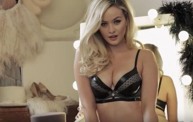 Simone has flaunted her curves wearing Playboy lingerie for Bras 'N Things. Source: Bras 'N Things