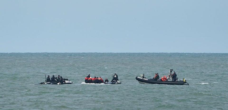 Border Force officers and vessels have been carrying out exercises to practice intercepting boats in the Channel. (Gareth Fuller/PA) (PA Wire)