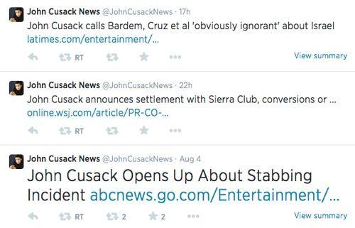 Tweets from John Cusack News