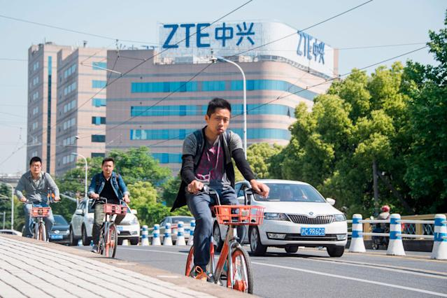 China's telecom gear maker ZTE has become a chess piece in trade talks between Washington and Beijing. (CNBC)