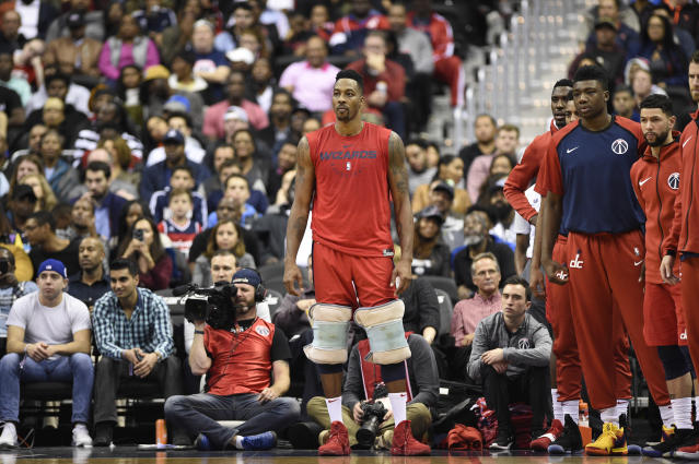 Dwight Howard is back for the Wizards, but he probably won't make much of a difference. (AP)