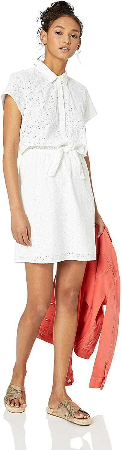 """<br> <br> <strong>J.Crew Mercantile</strong> Short-Sleeve Eyelet Collared Tie Front Dress, $, available at <a href=""""https://www.amazon.com/J-Crew-Mercantile-Womens-Short-Sleeve-Collared/dp/B07MQPGS47/ref=sr_1_4"""" rel=""""nofollow noopener"""" target=""""_blank"""" data-ylk=""""slk:Amazon"""" class=""""link rapid-noclick-resp"""">Amazon</a>"""