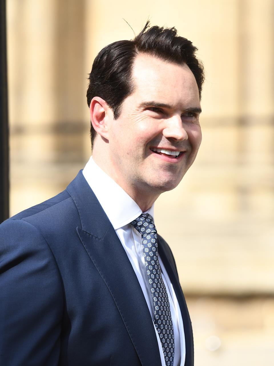 Jimmy Carr arriving at the wedding of Ellie Goulding and Casper Jopling, York Minster. Photo credit should read: Doug Peters/EMPICS