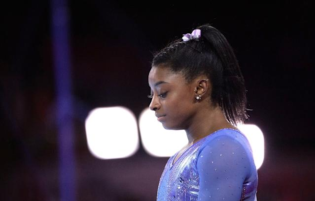 Simone Biles is now part of a lawsuit against the USAG and USOPC. (Photo by Marijan Murat/picture alliance via Getty Images)