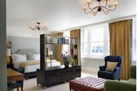 """<p>Considered the oldest hotel in Cambridge, previously frequented by the Rolling Stones and the Onassis family, The University Arms was renovated and reopened in 2018 having undergone an elegant makeover. Its bright, stylish rooms, beautiful, high-ceilinged lobby and must-visit restaurant, Parker's Tavern are designed by The Ivy's Martin Brudnizki to reflect the spirit of the university - think Cambridge blue, books aplenty, bespoke wallpaper inspired by book sleeves, original stainglass windows and eclectic posters and prints. Its bedrooms are each unique and its 12 suites, which look out onto Parker's Piece, feature libraries based on the Cambridge character that they're named after, from Stephen Hawking to Virginia Woolf. The while-tiled bathrooms are also well worth mentioning - big in size with elegant roll tubs and the fluffiest of robes. There is a bygone, genteel appeal to this hotel, where even the public lavatories are soundtracked by Alan Bennett's reading of Wind In The Willows. Only a 10-minute walk from the city centre, University Arms has a refined, yet welcoming charm where every last detail is considered. </p><p><a href=""""https://universityarms.com/"""" rel=""""nofollow noopener"""" target=""""_blank"""" data-ylk=""""slk:University Arms"""" class=""""link rapid-noclick-resp"""">University Arms</a>, prices start at £119 per night.</p>"""