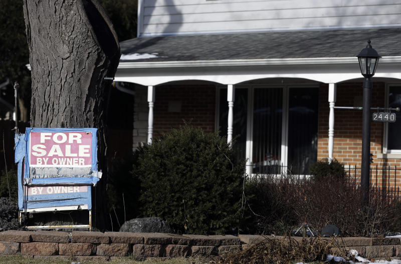 In this Saturday, Jan. 5, 2013, photo a home is for sale in Glenview, Ill.  U.S. sales of previously occupied homes rose in January to the second-highest level in three years, a sign that the housing market is sustaining its recovery and helping bolster the economy. The National Association of Realtors said Thursday that (AP Photo/Nam Y. Huh)