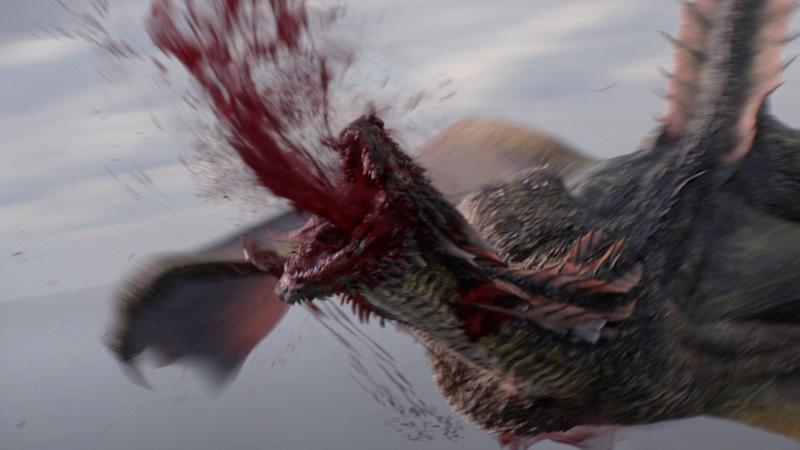 The killing blow that ends Rhaegal's life (Photo: © 2019 Home Box Office, Inc.)