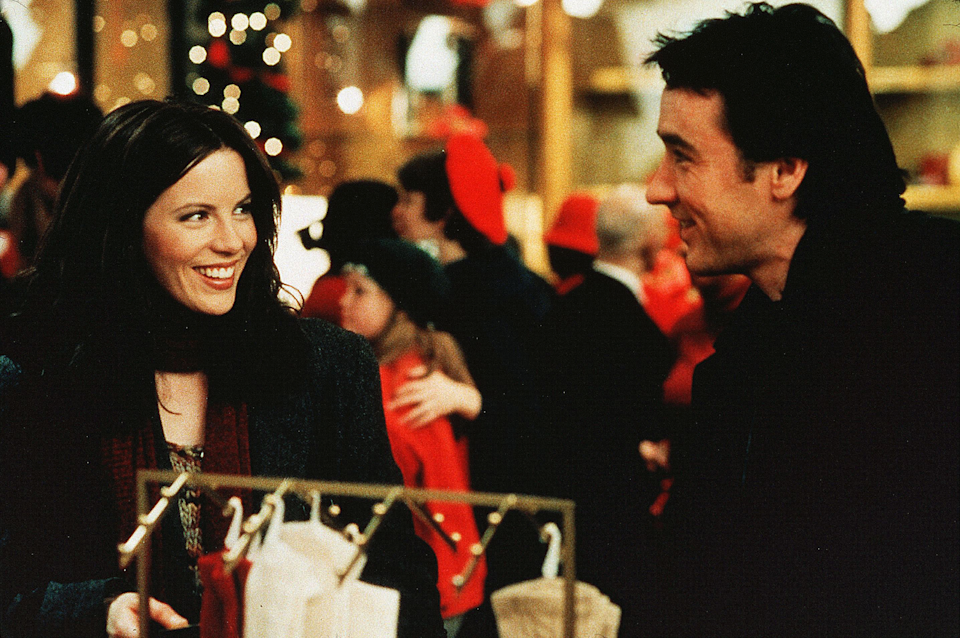 """<em><h3>Serendipity</h3></em><h3>, </h3><strong><h3>2001</h3></strong><h3><br></h3><br>A chance meeting while celebrating Christmas in New York brings together to strangers (Kate Beckinsale and John Cusack). If that sounds cheesy, just know that it is. But we could also use a little cheesy during the holidays.<br><br><strong>Watch It On:</strong> Netflix.<span class=""""copyright"""">Photo: David Lee/Tapestry Films/REX/Shutterstock.</span>"""