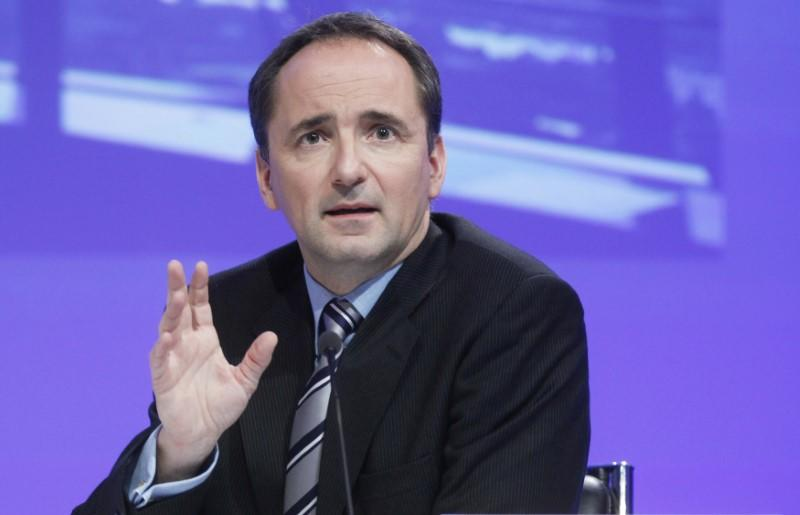 FILE PHOTO - Former CEO of German software group SAP Snabe attends a news conference in Frankfurt