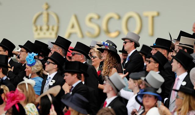 Horse Racing - Royal Ascot - Ascot Racecourse, Ascot, Britain - June 23, 2018 General view of racegoers watching the 3.05 Hardwicke Stakes Action Images via Reuters/Andrew Boyers