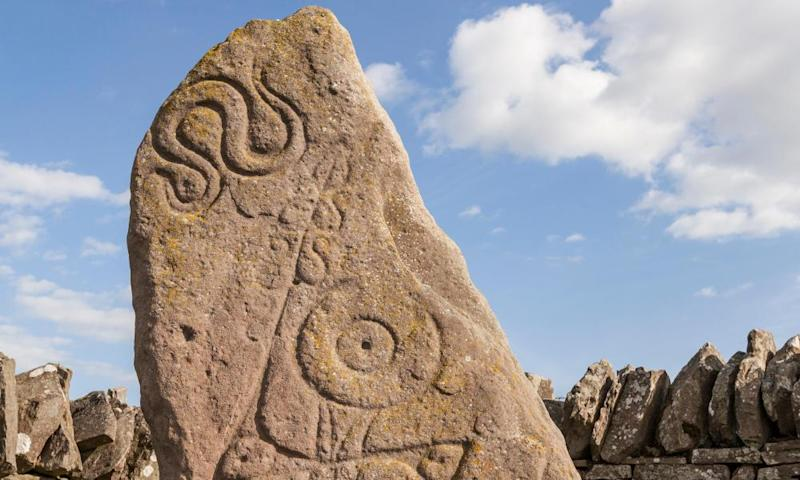 Pictish symbol stone at Aberlemno.