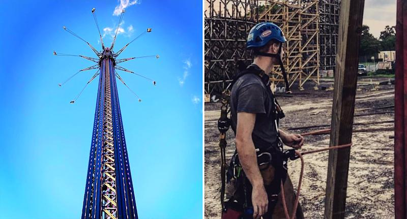Pictured on the left is the StarFlyer, located in Orlando Florida, on the right is a photo of Jacob David Kaminsky, the man who died.