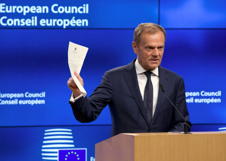 European Council president Donald Tusk said he would miss the UK (Rex)