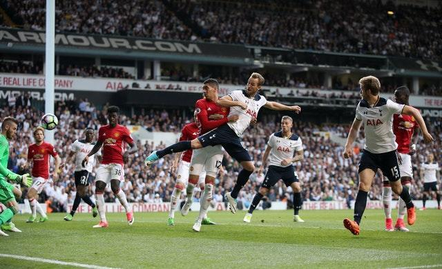 An instinctive flick past David De Gea ensured Harry Kane was Tottenham's final goalscorer at White Hart Lane in a 2-1 win over Manchester United in May, 2017