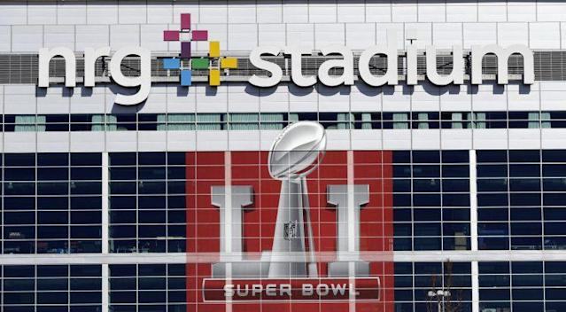 """Ticket sellers say the """"get-in"""" price for the Falcons-Patriots Super Bowl is about $2,100. (AP)"""