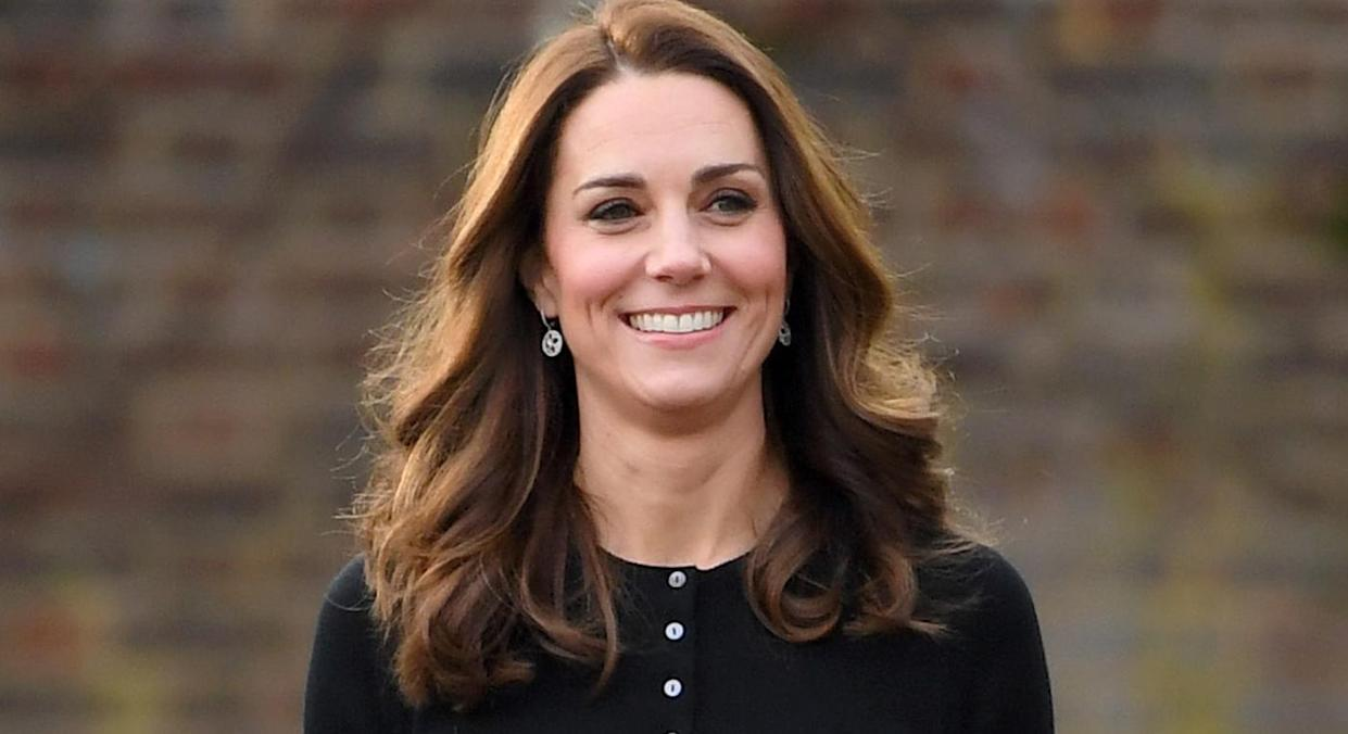 The Duchess of Cambridge appears to have taken a liking to button front cardigans, and one favourite is now available in more colours. (Getty Images)