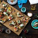 """Eating fresh, creamy ricotta and overripe tomatoes on grilled bread should be considered an essential summertime rite of passage. <a href=""""https://www.epicurious.com/recipes/food/views/grilled-bread-with-ricotta-tomatoes-51241950?mbid=synd_yahoo_rss"""" rel=""""nofollow noopener"""" target=""""_blank"""" data-ylk=""""slk:See recipe."""" class=""""link rapid-noclick-resp"""">See recipe.</a>"""